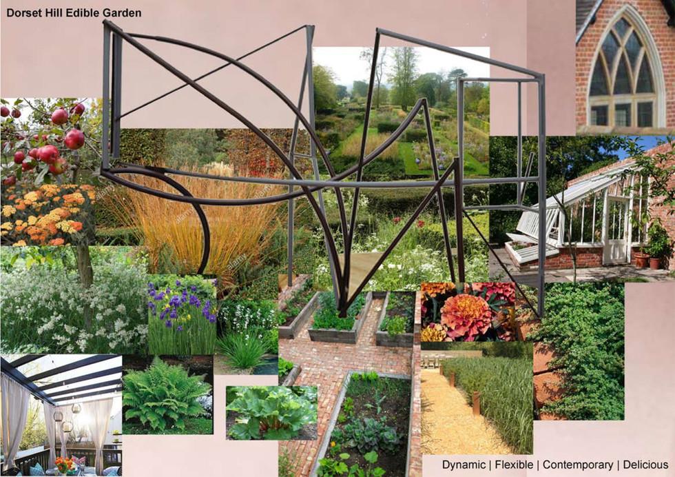 walled produce garden inspiration board.