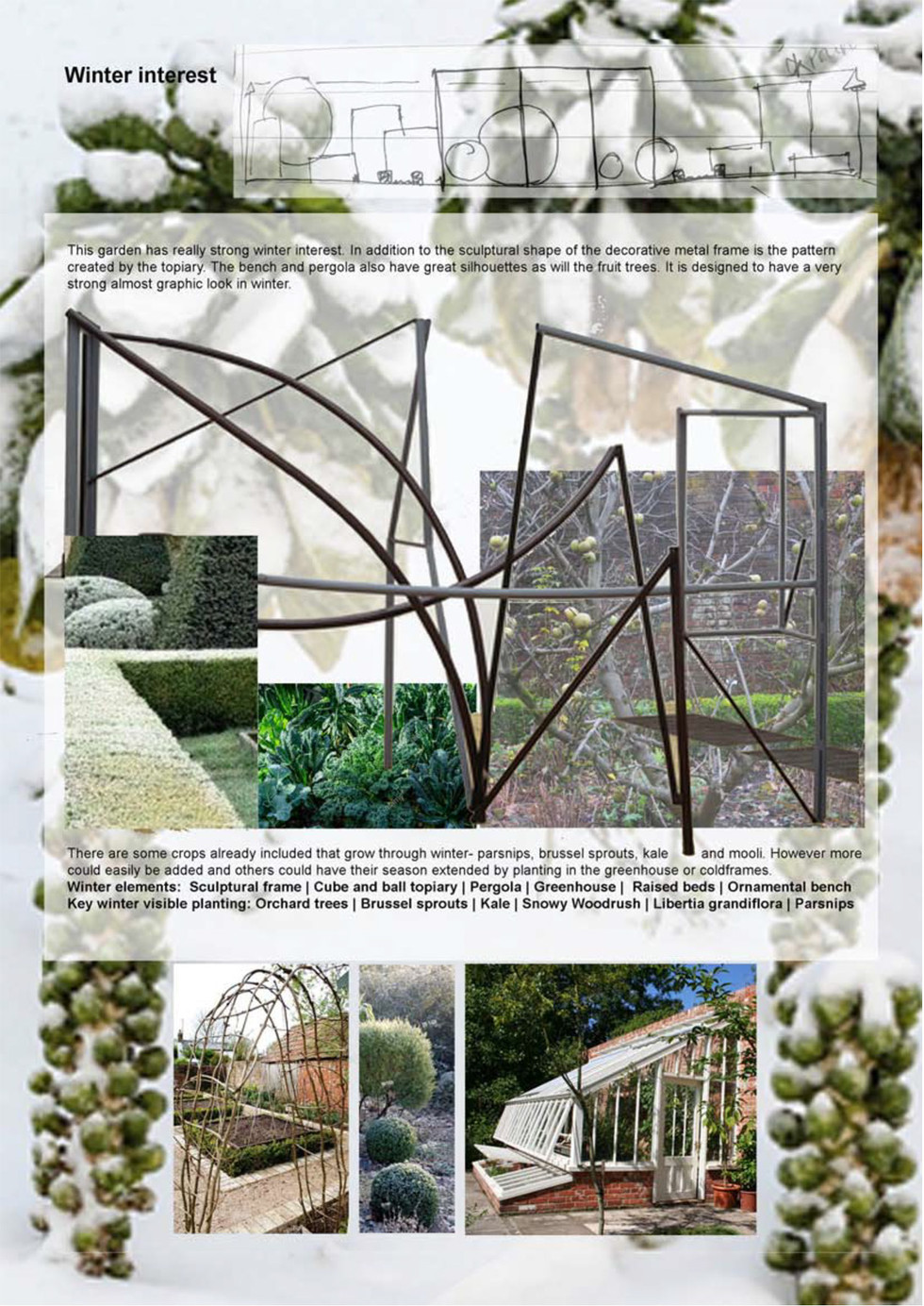 Walled produce garden winter structure R