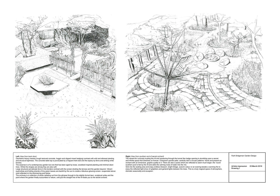 The writers garden- artists impression.