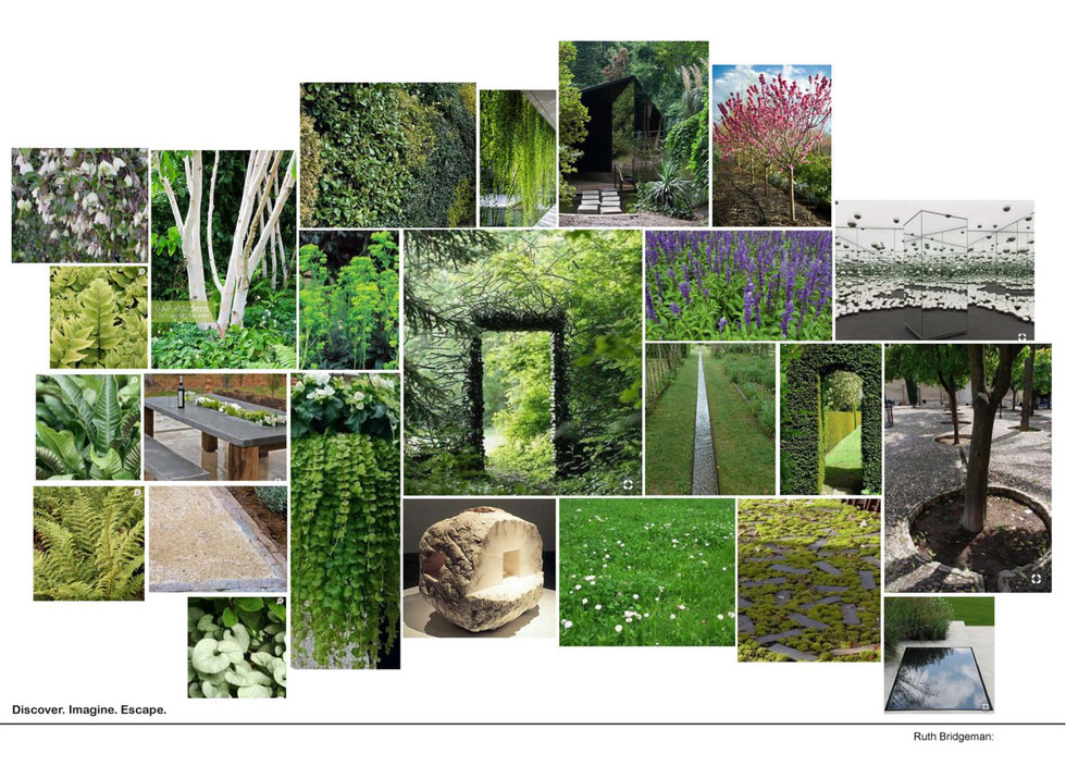 The writers garden concept. Ruth Bridgem