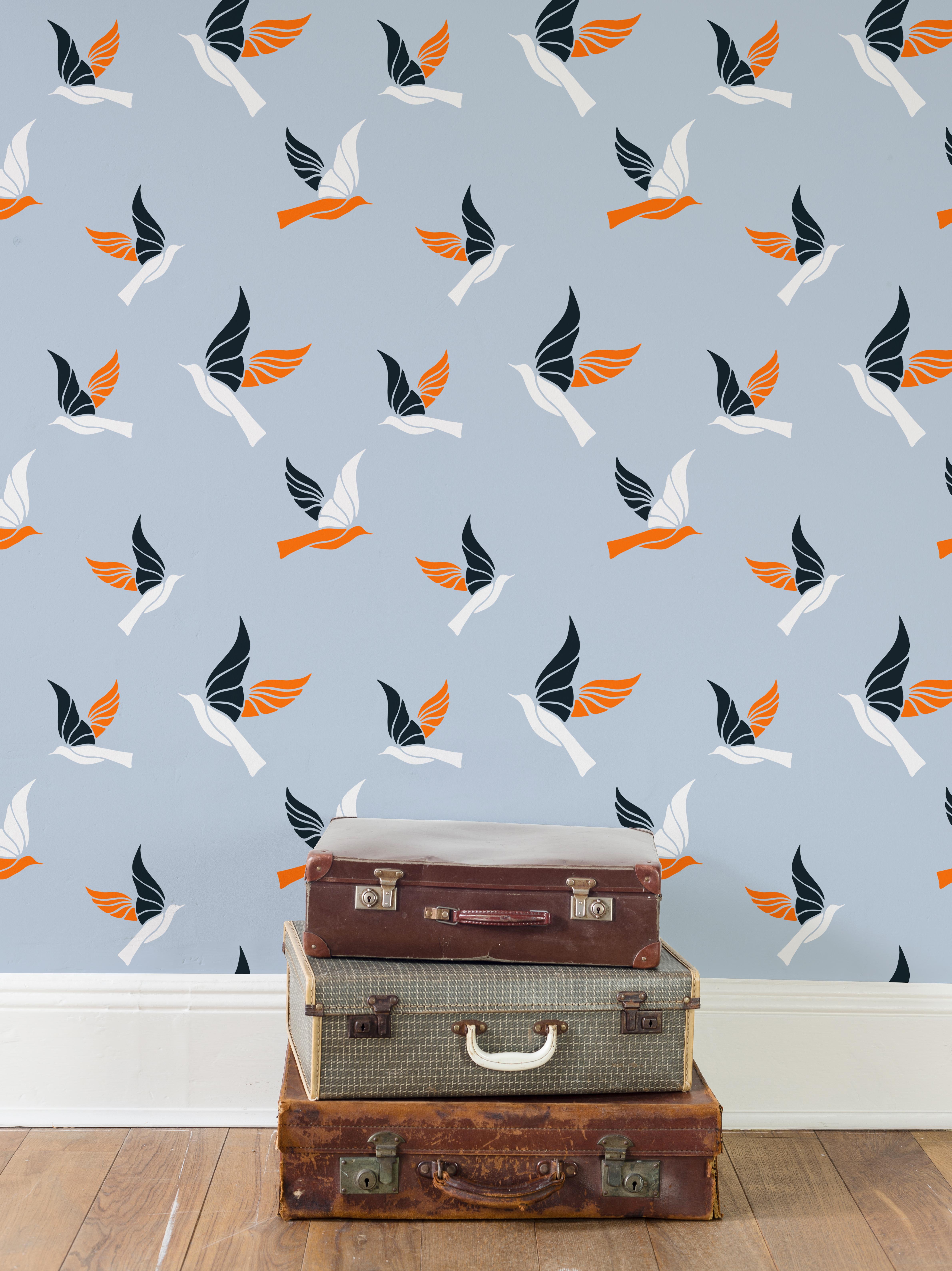 Birds Pattern on Wallpapers