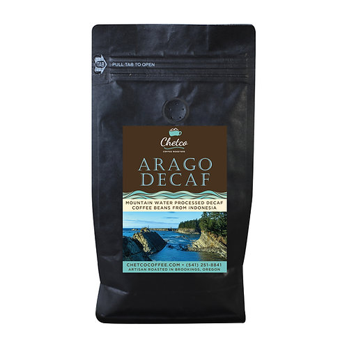Arago Decaf  (Mountain Water Processed) 12oz Bag
