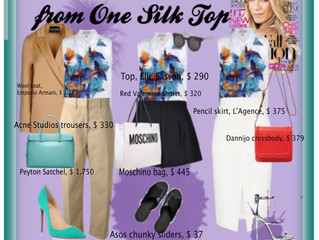 3 GREAT LOOKS FROM 1 SILK TOP