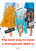THE BEST WAY TO WEAR A TRANSPARENT SKIRT IS...