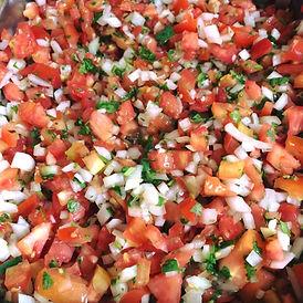 fresh pico de gallo tomatoes onions cilantro