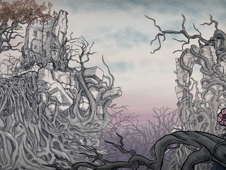 "Inspired by Arthur Rackham, an ""Enchanted Forest..."""
