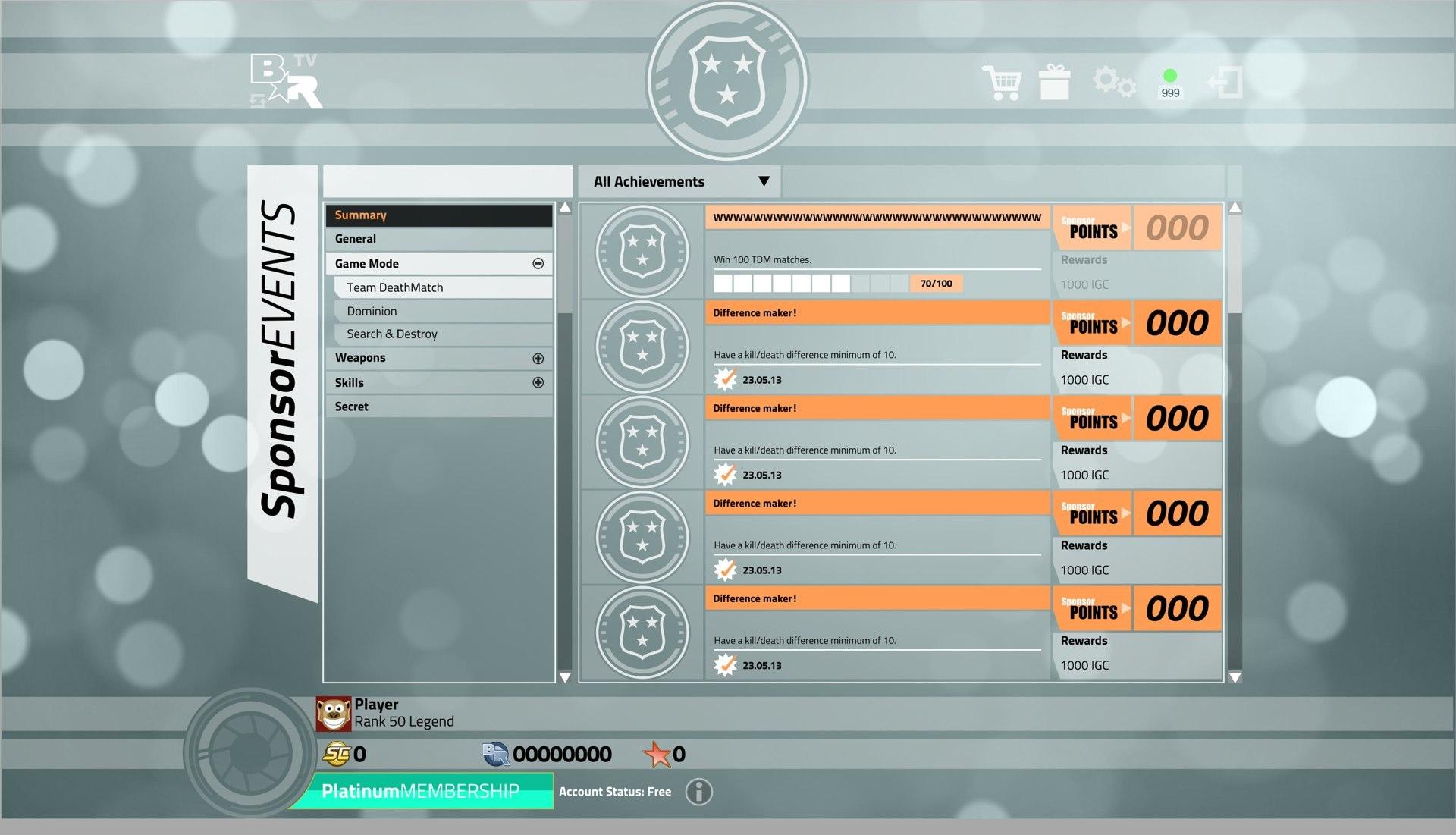 Bullet_Run_V2 Achievements Game Mode