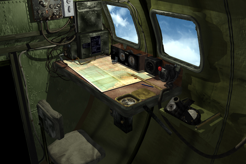 B 17 Navigator Compartment