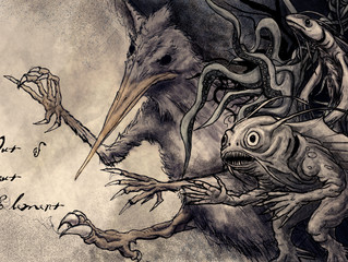 Rackham inspired warped Lovecraftian picture book...