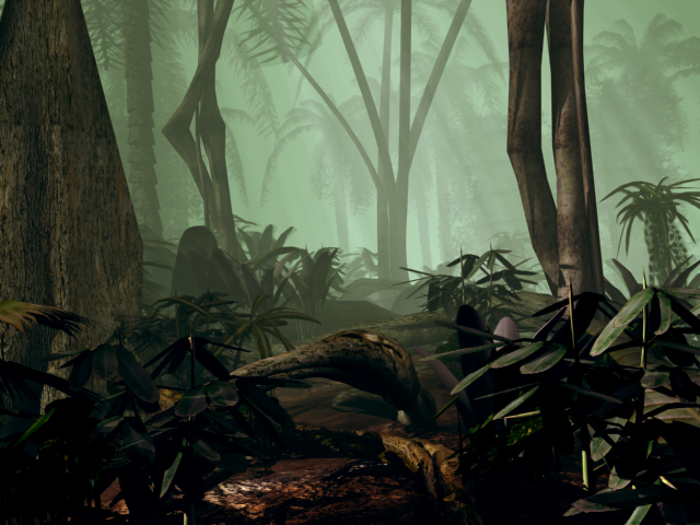 Early 3D Rendered Jungle Mock Up