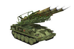 SA6 3 Missile Launcher