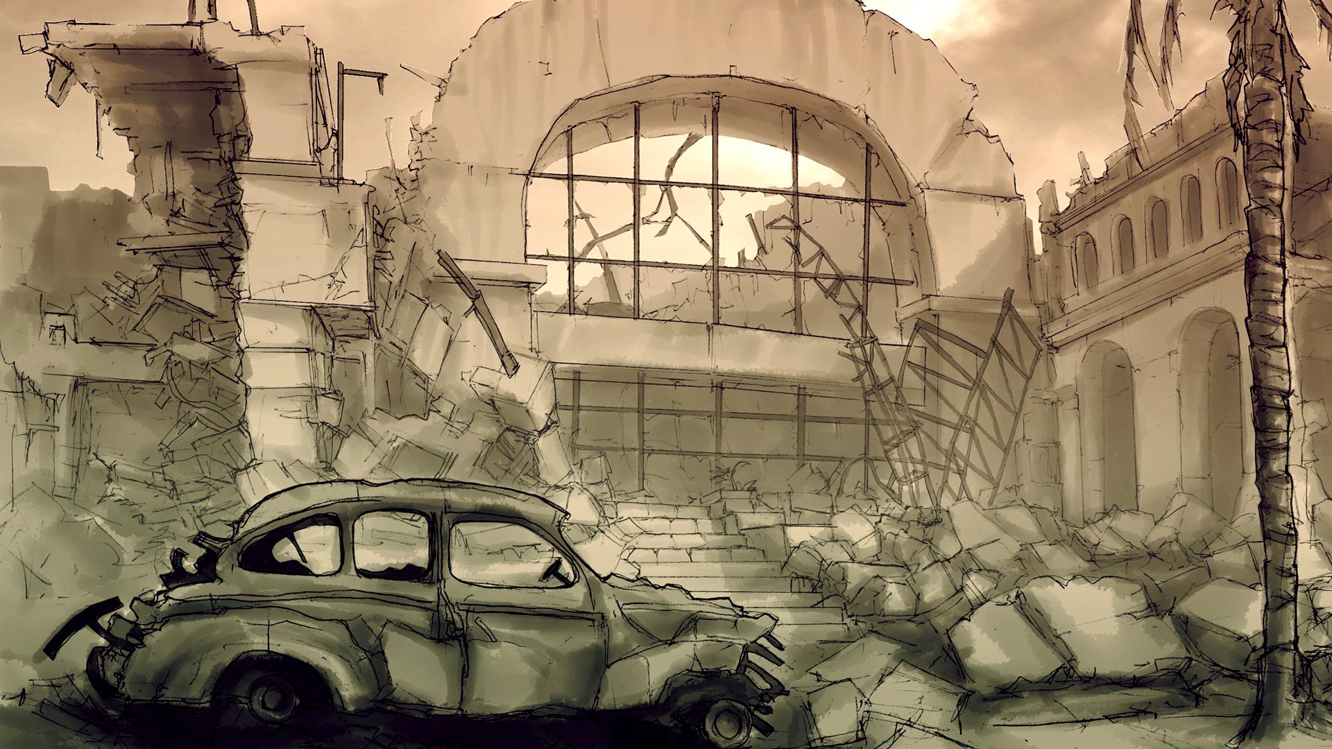Highlander_WW2_Manila_Station_Sketch