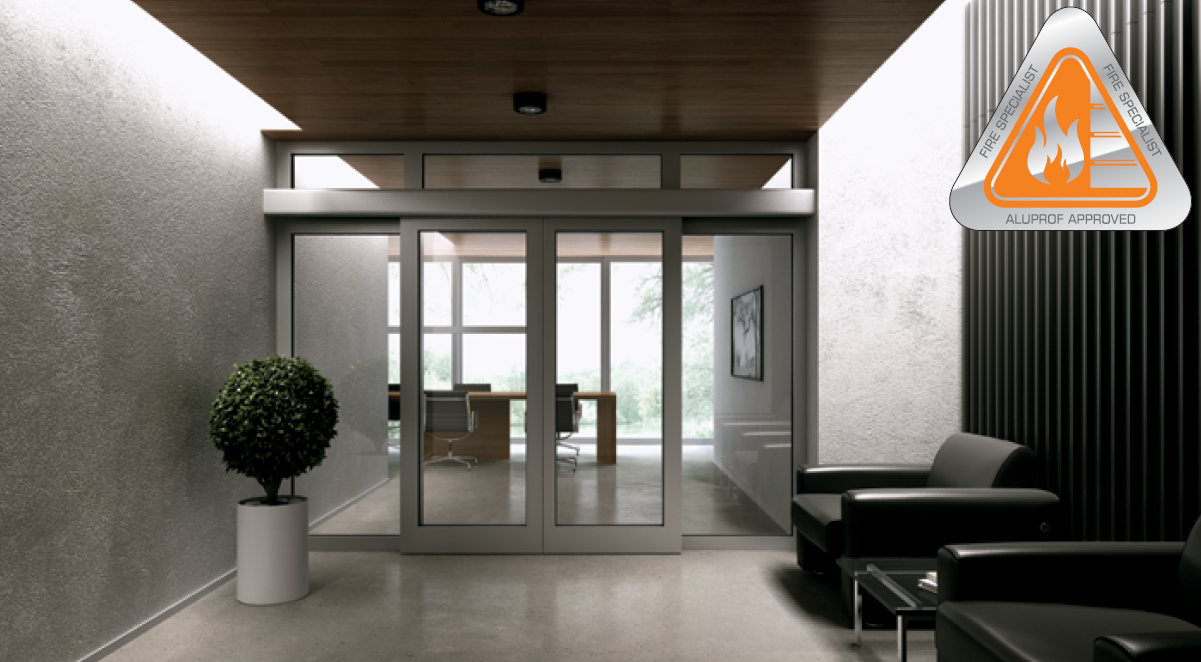 Single and double leaf sliding doors - fire rated.