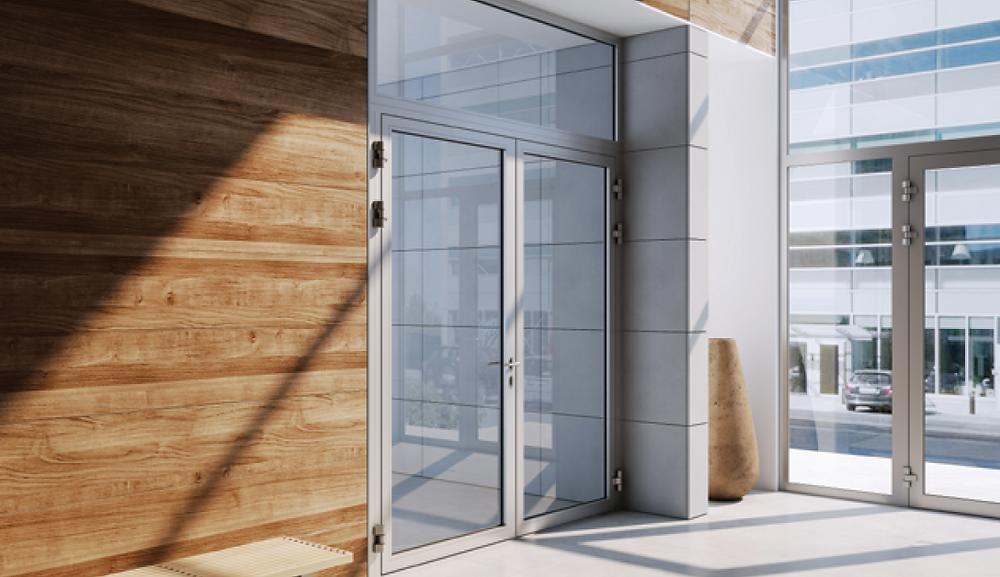 Automatic glass sliding fire doors