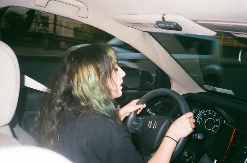 Ingrid drives Sheila