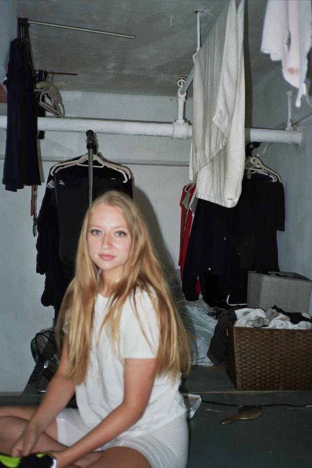 ANDREA IN HER ROOM