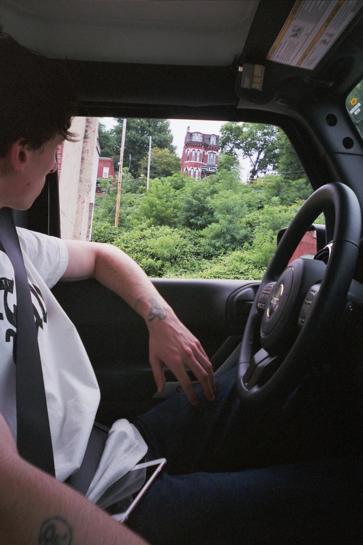 DAVID IN CAR