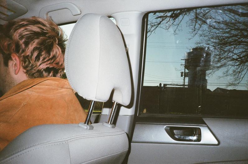 Ben in Mia's car