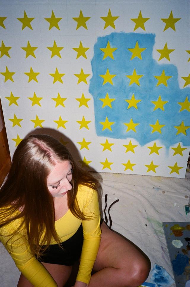 Andrea in her Ohio studio