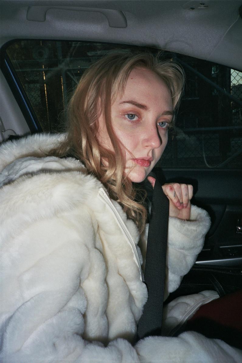JANE IN HER CAR