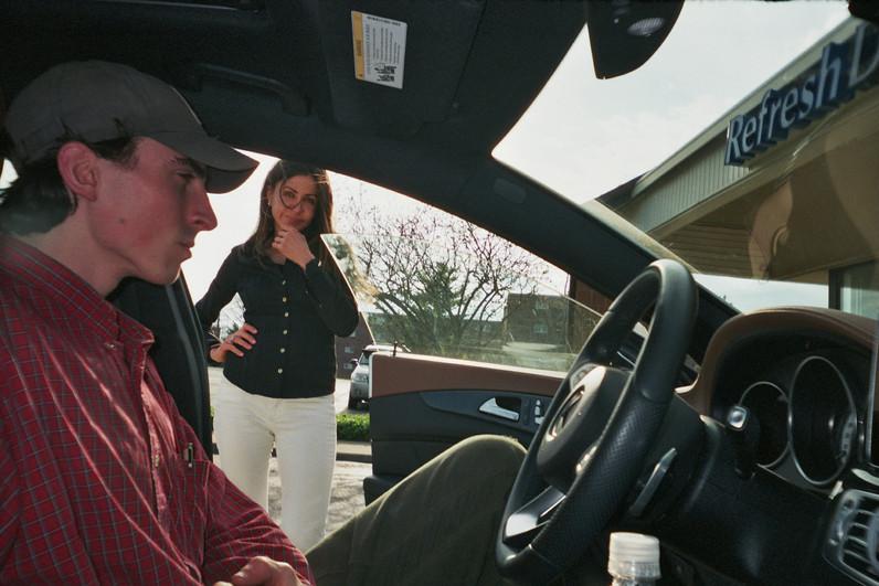 DAVID IN MY MOM'S CAR