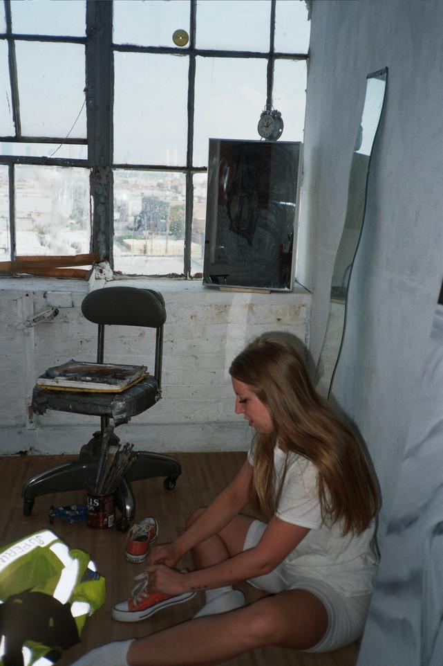 ANDREA IN HER STUDIO