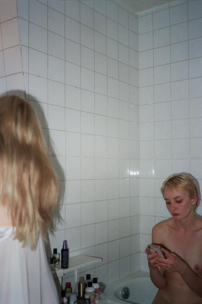 Dana and Jane in the Bathroom