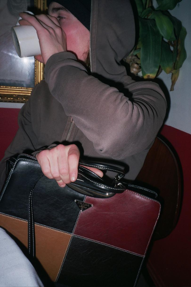 DAVID WITH BAG