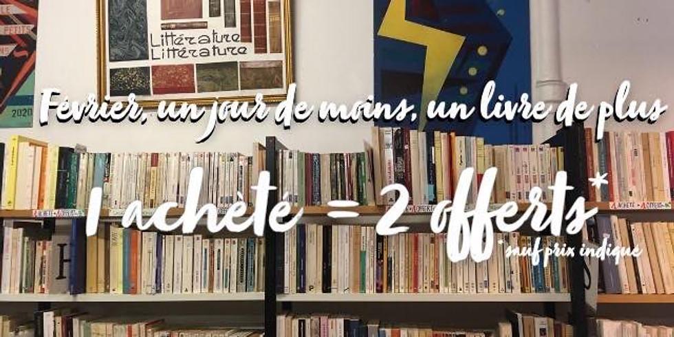 Week-end vente spéciale : 1 livre acheté = 2 livres offerts !