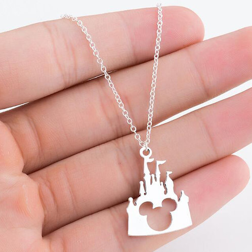 mouse in house necklace