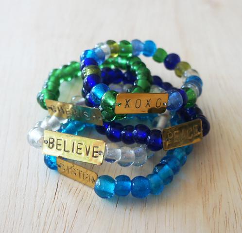 Recycled Glass Bracelets