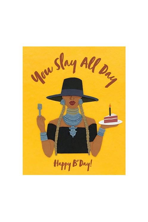 Slay All Day Birthday Card