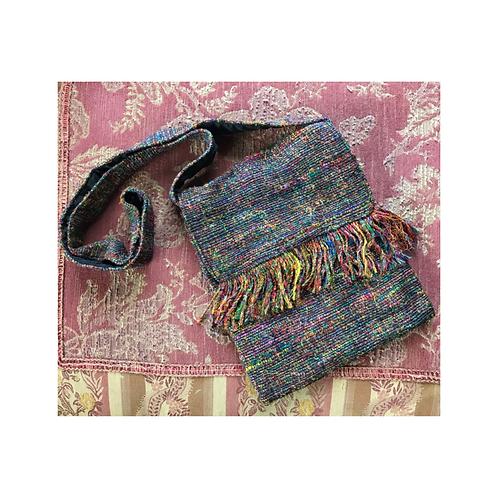Recycled Silk Purse w/ Fringe