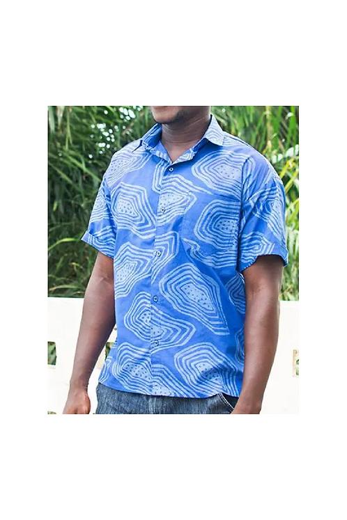 Button Down Shirt / Agate Blue