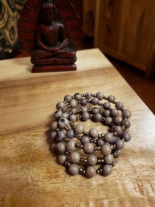 Tagua Bead Wrap Bracelet