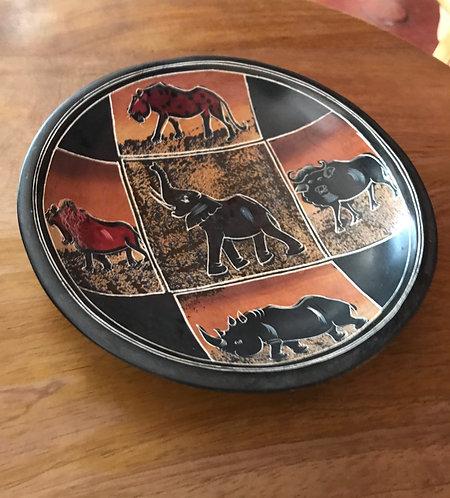 Soapstone Bowl (5 animals)