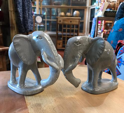 Soapstone Grey Elephant