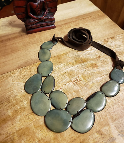 Tagua Double Token Necklace