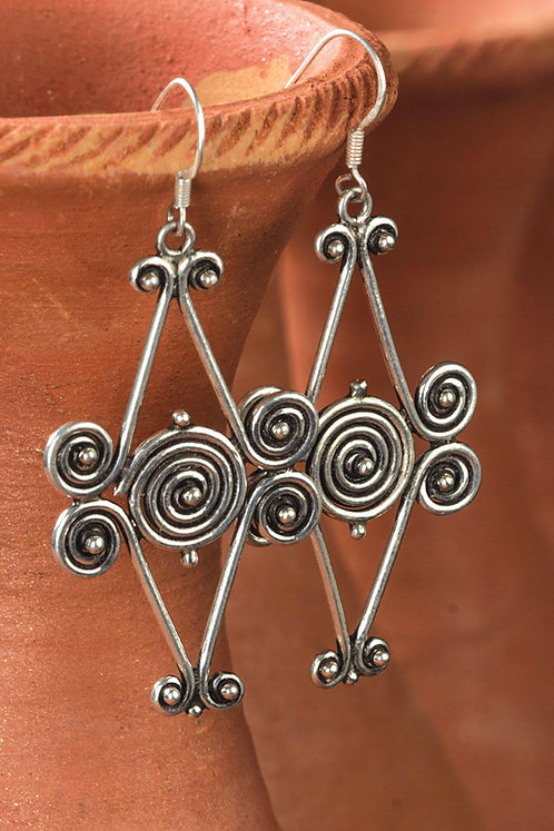 Five Spiral Earrings