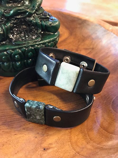 Jade & Leather Bracelet