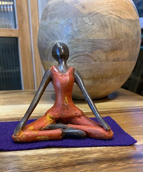 Bronze Lotus Pose Statue
