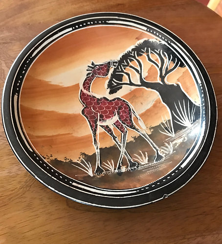Soapstone Giraffe Bowl