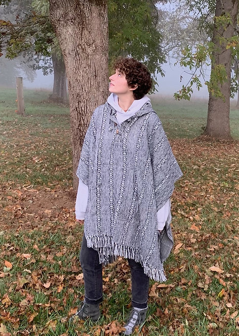 Cotton Hooded Poncho