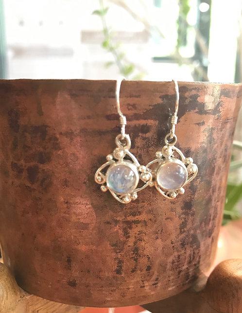 Sterling Silver Earrings w/ Gem Stone