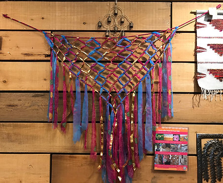 Upcycled Sari Silk Wall Hanging
