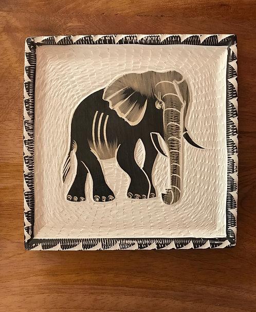 Soapstone Elephant Plate