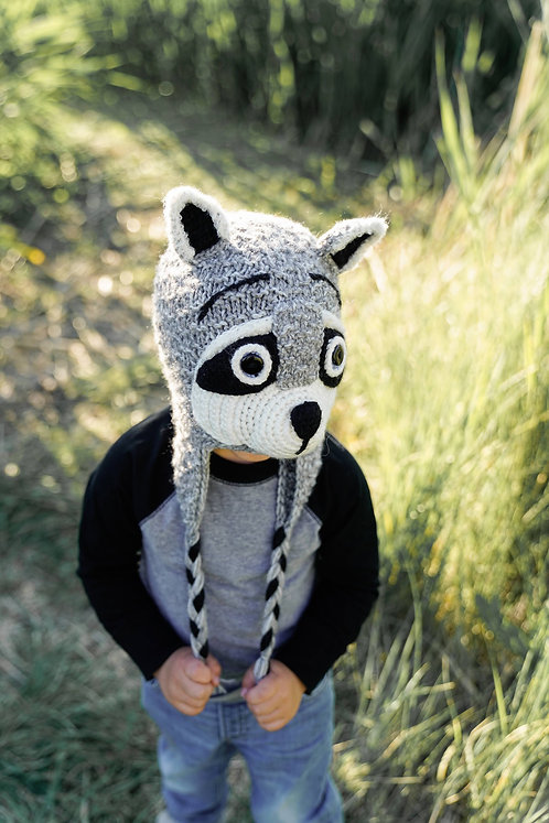 Kids Raccoon Hat