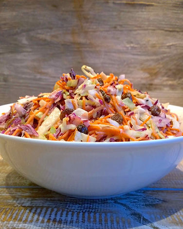 COLESLAW with raw vegetables.