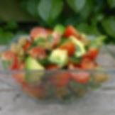 Avocado, spinach, tomatoes.  Healthy habits, delicious food.