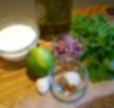 Raw vegetables, and seasoning.